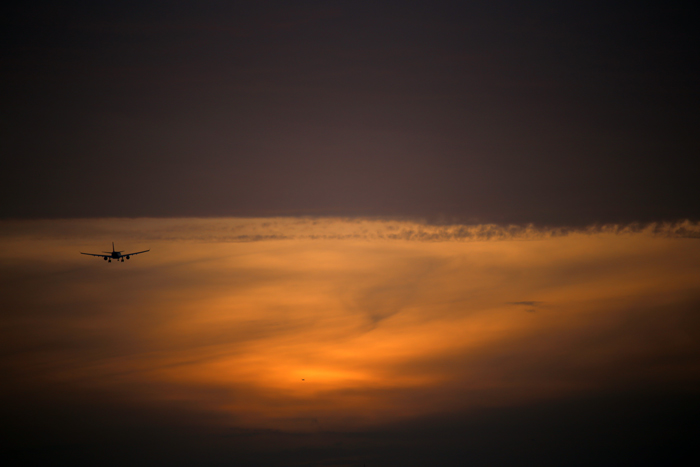 Flying into Sunset-