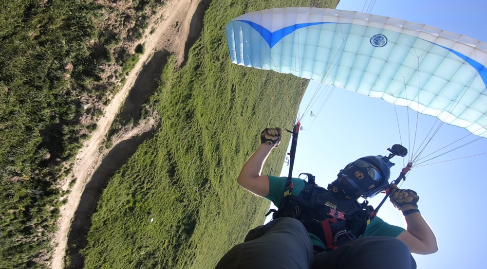 """Speedflying from top to bottom """"Le Diable"""""""